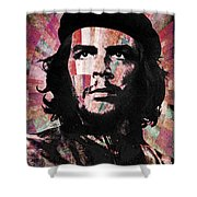 Che Guevara Revolution Red Shower Curtain
