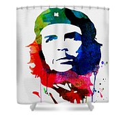 Che Guevara Watercolor 2 Shower Curtain