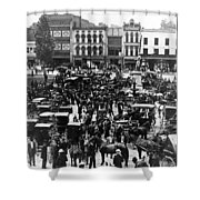 Cheapside Public Square In Lexington - Kentucky - April 7  1920 Shower Curtain