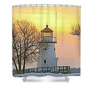 Cheboygan Harbor Light 2 Shower Curtain
