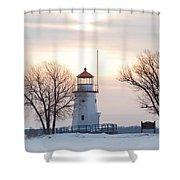 Cheboygan Harbor Light Shower Curtain