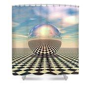 Checker Ball Shower Curtain