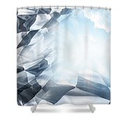 Checkered Flag And Sun 1 Shower Curtain