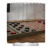 Checkered Past - Checkers Shower Curtain