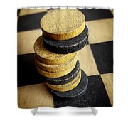 Checkers On A Checkerboard Shower Curtain