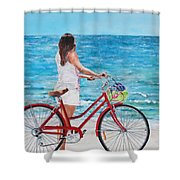 Checking The Surf Shower Curtain