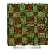 Checkoff Abstract Pattern Shower Curtain