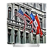 Checkpoint Charlie Shower Curtain