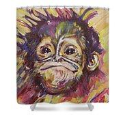 Cheeky Lil' Monkey Shower Curtain