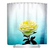 Cheerful Yellow Rose Shower Curtain
