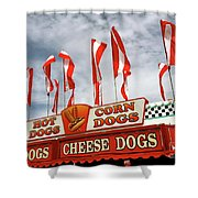 Cheese Dogs Galore Shower Curtain