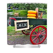 Cheese On A Wagon Shower Curtain