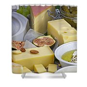 Cheese Plate Shower Curtain