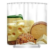 Cheese Slices Shower Curtain
