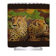 Cheetah 2 Shower Curtain