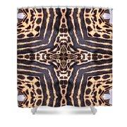 Cheetah Cross Shower Curtain
