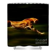 Cheetah Hunting His Prey Shower Curtain by Pamela Johnson