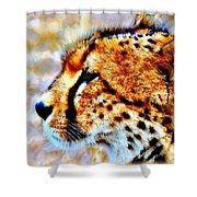 Cheetah IIi Shower Curtain
