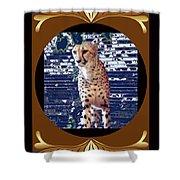 Cheetah Lean And Mean Shower Curtain