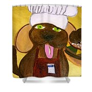 Chef Bow Wow Shower Curtain
