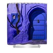 Chefchaouen Hotel Door Shower Curtain