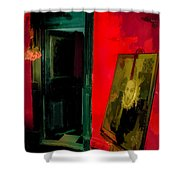 Chelsea Hotel Abstract Shower Curtain