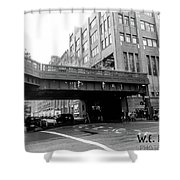 Chelsea Pier Area New York City Shower Curtain