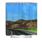Chem Trails Valley Of Fire  Shower Curtain