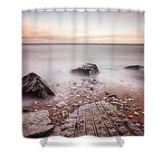 Chemical Beach Tide Shower Curtain