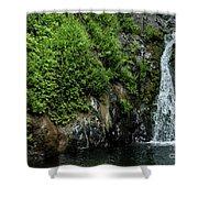 Chemisal Falls At Vichy Springs In Ukiah In Mendocino County, California Shower Curtain