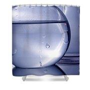Chemistry Beakers Blue Shower Curtain