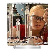 Chemistry Homework Help Solve By Experts In Few Seconds Only  Shower Curtain