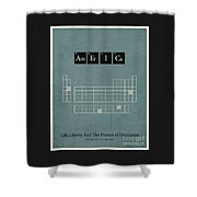 Chemistry Of A Nation Shower Curtain
