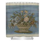 Chenille Embroidery Shower Curtain