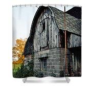 Chequamegon National Forest Barn Portrait Shower Curtain