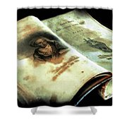 Cherished Old Book Shower Curtain
