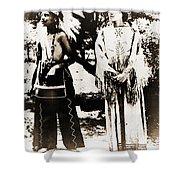 Cherokee Indian Couple Shower Curtain