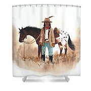 Cherokee Lighthorse Shower Curtain