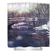 Cherokee Park Bridge Shower Curtain