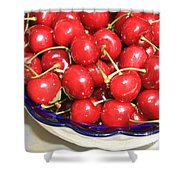 Cherries In A Bowl Close-up Shower Curtain