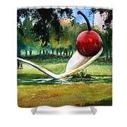 Cherry And Spoon Shower Curtain