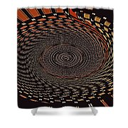 Cherry Basket Weaving Abstract Shower Curtain