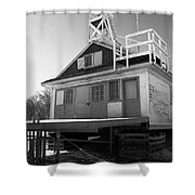 Cherry Beach Boat House Shower Curtain