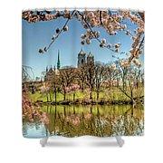Cherry Blossom Branch Brook Park, Newark, Nj  Shower Curtain