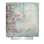 Cherry Blossom Dreams Shower Curtain