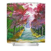 Cherry Blossom Lane Shower Curtain
