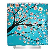 Cherry Blossom Morning Shower Curtain
