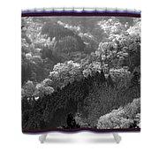 Cherry Blossom Season In Japan Mountain Hills Trees Photography By Navinjoshi At Fineartamerica.com  Shower Curtain