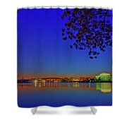 Cherry Blossoms Sunrise Shower Curtain