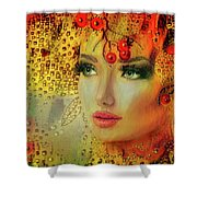 Cherry Cherry Lady Shower Curtain